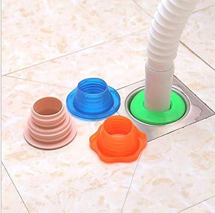 Anillas de Sellado de Silicona de Drenaje de Manguera de Lavadora de Colores Diferentes Fdit Juego de 3 Juntas de conexi/ón para Tubos de desag/üe