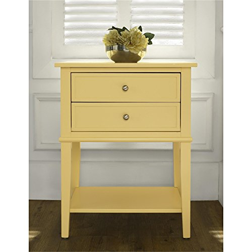 Ameriwood Home 5062496COM Franklin Accent Table 2 Drawers, Yellow by Ameriwood Home (Image #5)