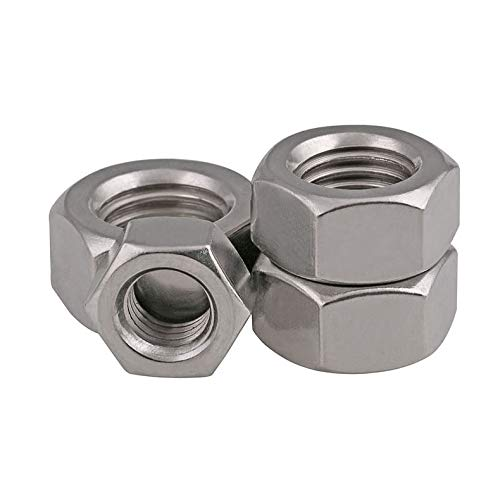 4pcs M6 x 1 mm Pitch Stainless Steel Left Hand Thread Hex Nut Metric Thread