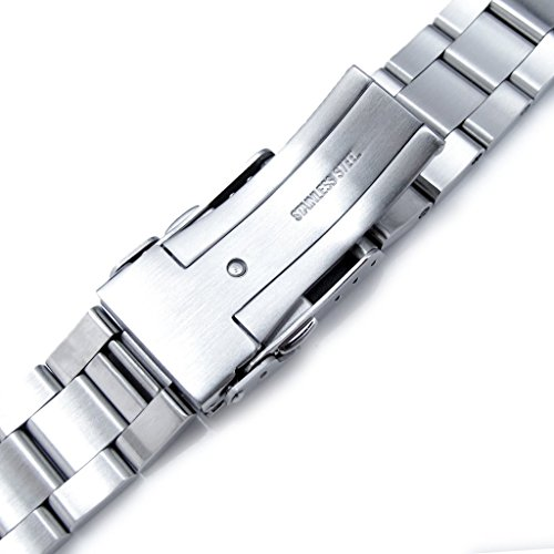 22mm Super Oyster 316L Stainless Steel Watch Bracelet for Orient Mako II & Ray II, Brushed by Orient Replacement by MiLTAT (Image #5)