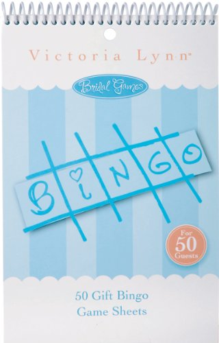 Darice 1405-042, Bridal Gift Bingo Game Sheets, 50-Piece]()