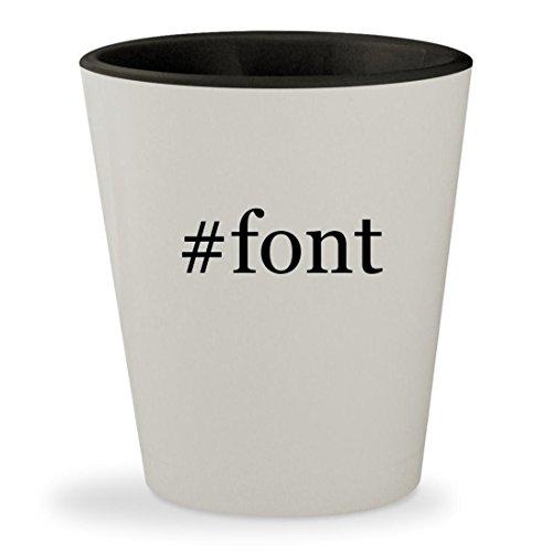 #font - Hashtag White Outer & Black Inner Ceramic 1.5oz Shot - Fonte La Glasses