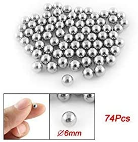 Dcolor 74 x 6mm Diametro Bola de Acero Rodamientos Piezas de ...