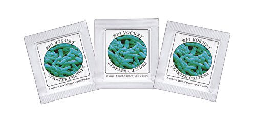 Yogurt Starter Cultures - Pack of 3 Freeze-dried Culture Sachets for BIO Yogurt