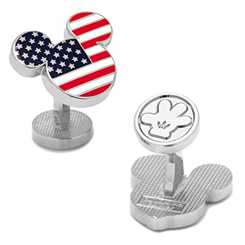 (Disney Men's Stars and Stripes Mickey Mouse Cufflinks (DN-MUSA-SL))