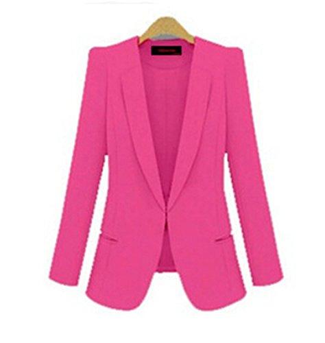 87ef6bcd59936 Michael Palmer Yellow Blazer Plus Size 4XL Formal Jacket Women s White  Blazer Rose Blue Suit Office Rose M