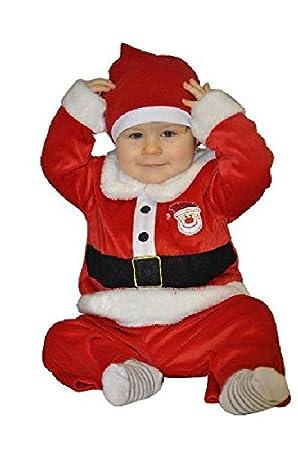 6e499c6d83bda Sandy - Déguisement père Noël bébé velours 3 pièces Taille 6 12 mois ...