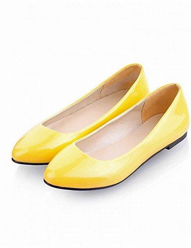 under Plano Casual Zapatos blue Bailarina Negro 1in de 1in Rojo Amarillo y mujer under Tac¨®n Semicuero Beige Azul yellow ZQ Oficina Planos Trabajo vwTqSIvA