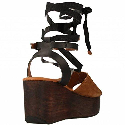 Sandalias y chanclas para mujer, color marr�n , marca GIOSEPPO, modelo Sandalias Y Chanclas Para Mujer GIOSEPPO 39896G Marr�n marr�n