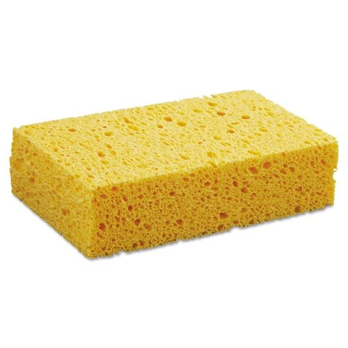 Premiere Pads PAD CS2 Medium Cellulose Sponge, 6-5/64'' Length by 3.667'' Width, 1.55'' Thick, Yellow (Case of 24)