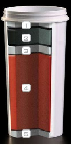 ZeroWater ZJ-003 Filtration Water Cooler Bottle with Electronic Tester, Filters Included
