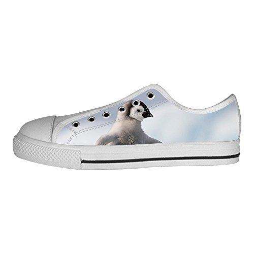 Delle Scarpe Custom Canvas Ginnastica Women's Tetto Pinguino I Shoes Lacci Da Alto wYApqwB