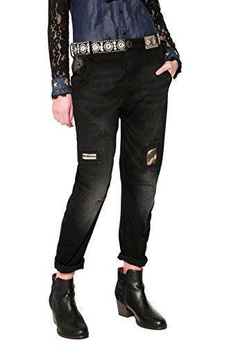 Cotone Nero Desigual Donna 17wwdd34black Jeans xW4xnH6f