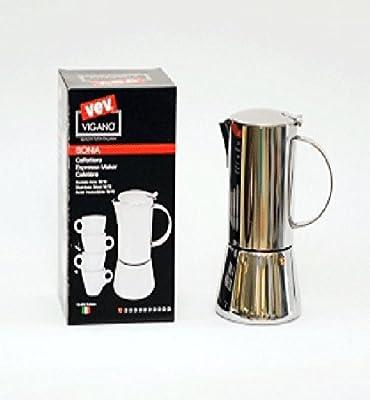 Sonia – Cafetera de espresso 10 tazas en acero inoxidable 18/10: Amazon.es: Hogar
