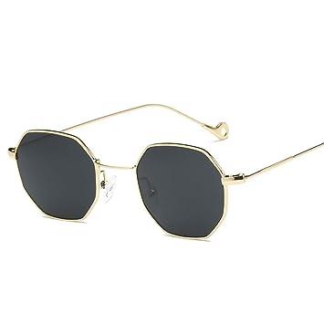 Amazon.com: YLNJYJ Gafas De Sol De Color De Moda Hexágono ...