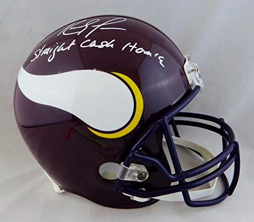 Randy Moss Autographed Minn Vikings F/S Helmet w/Straight Cash Homie- JSA W Auth White