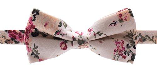 Bowtie - Floral - Cream, Pink, Green (Cream Floral Pink)