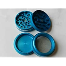 "High Grade Aluminum Herb Grinder 4 piece 2"" Sharp Blades, Magnet, Pollen Screen - Turquoise"