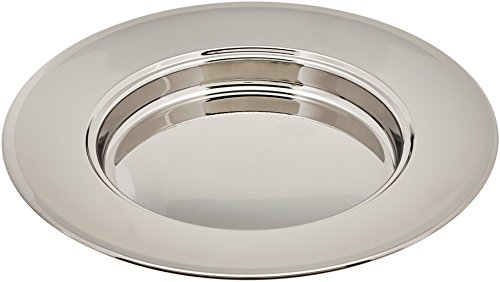 Stainless Steel Bread Plate (serves 40) - (Communion Bread Plate)