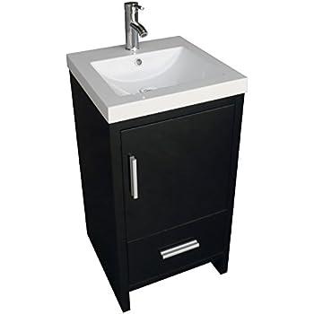 Foremost cocat1816 columbia 18 inch cherry vanity combo bathroom vanities for Bathroom sink and cabinet combo