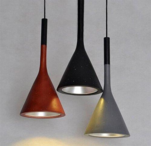 - LUCKY CLOVER-A Funnel Shaped Resin Ceiling Light Pendant Light Chandelier ,Pack of 3 pcs,(φ16H 36cm) , A