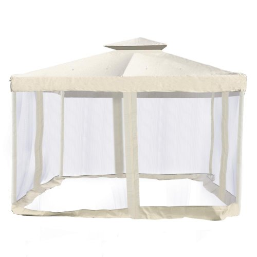 GC Global Direct Ivory Canopy Substitution with Screen Netting Gazebo Top 10×10 Ft Review