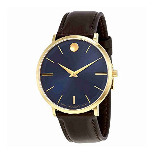 Movado Ultra Slim Blue Sunray Dial Mens Watch 0607088
