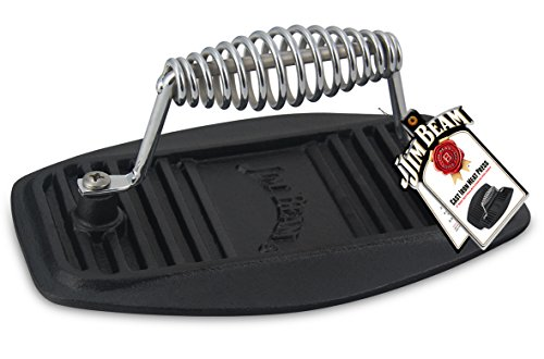 Jim Beam JB0177 Iron Barbecue, BBQ Press, Grill Accessories, Grid, Black ()