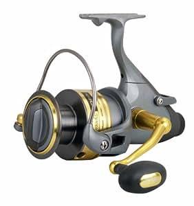 Okuma Coronado Baitfeeder Spinning Reel, Grey/Gold, Small