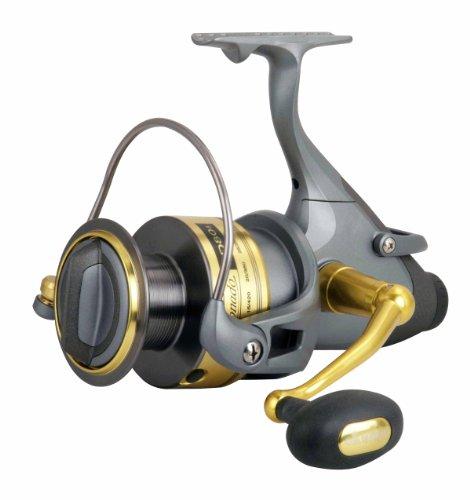 Okuma Coronado Baitfeeder Spinning Reel, Grey/Gold, Small, Outdoor Stuffs