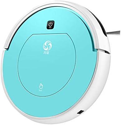 Schimer Robot Aspirador con función de Limpieza, Aspirador automático, 2 en 1, para Suelos Duros, soporta hasta 180 m², sin Bolsa, con estación de Carga Azul Azul: Amazon.es: Informática