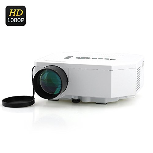 Mini LED Projector (1080p, HDMI, 150 Lumens, LED Lamp + LCD Image Sensor) B07BL229PL