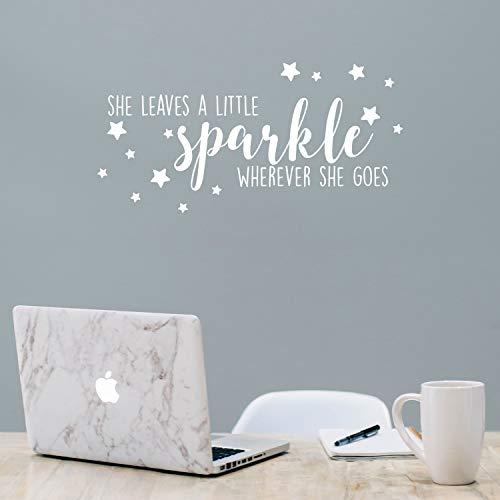 Vinyl Wall Art Decal - She Leaves A Little Sparkle Wherever She Goes - 11