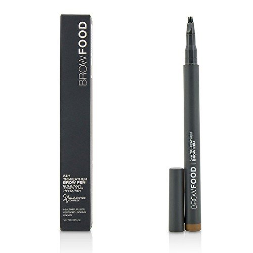 BrowFood 24-H Tri-Feather Brow Pen, Brunette