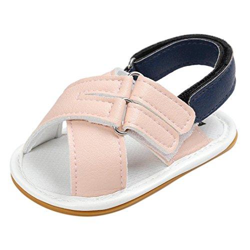 Zapatos de Bebé SMARTLADY 0~18 Niños Niña Bebe Primeros pasos Sandalias Rosa