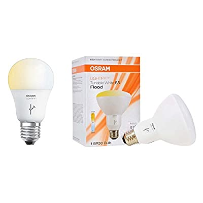 Sylvania Lightify 60W A19 Tunable Smart LED Bulb + 65W BR30 Tunable Flood Light