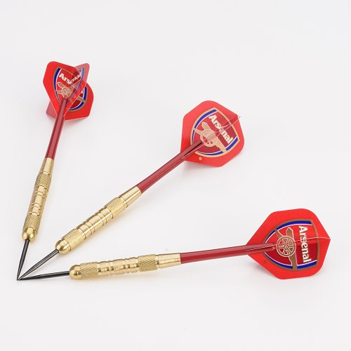 Arsenal Brass Darts Set, 20g Barrels, Red Stems, Flights, Perfectdarts Case Arsenal Set