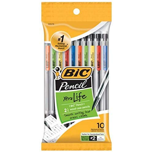 Bic Mechanical Pencil, Medium Point (0.7 mm) 10 ea (Pack of 2)