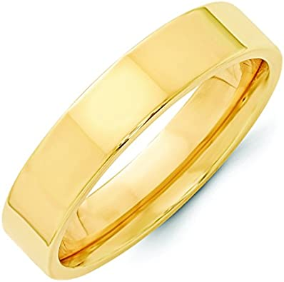 Jewelry Pilot 14K White Gold 3mm High Polish Finish Half Round Domed Comfort Fit Wedding Band