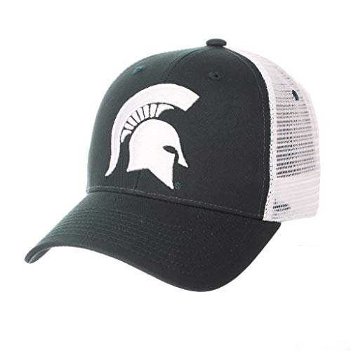 - CampusHats Michigan State University MSU Spartan Green Top Big Rig Best Mesh Trucker Baseball Hat/Cap Size Adjustable