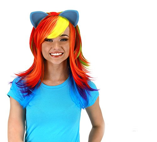 Rainbow Bright Costumes (My Little Pony Rainbow Dash Wig with Ears by elope)