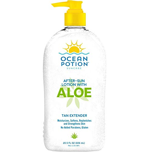 Ocean Potion After Sun Lotion with Aloe Tan Extender, 20.5 Ounce Bottle, Pack of 2