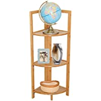Timber Valley 3 Tier Bamboo Corner Shelf