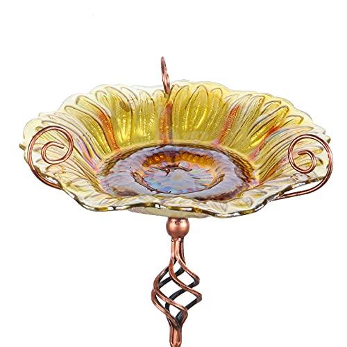 Comedero Mumtop Para Pajaros De Cristal Girasol- Estaca 78cm