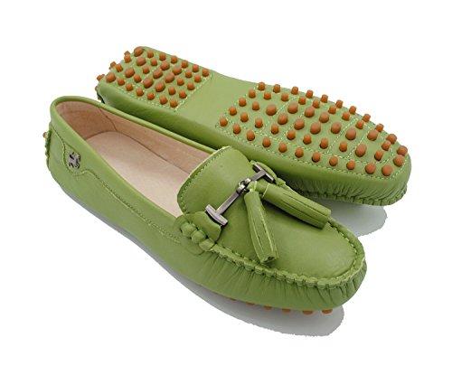 Miyoopark Green Ballet Leather Femme olive Smooth FfZpvF