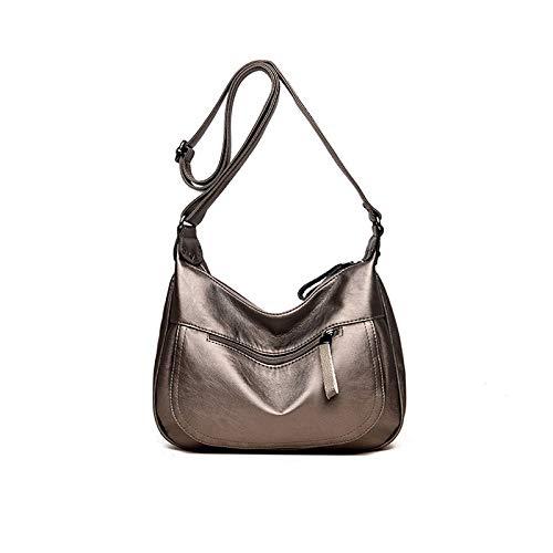 Grande Handbag Bolso Bronce Señoras Limotai Ladies Pu Casual xYF7nqdp