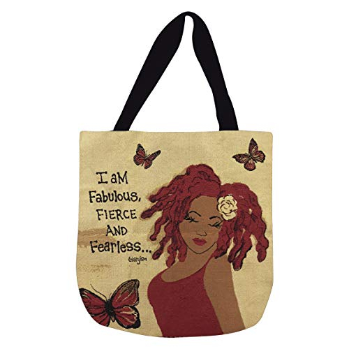 Shades of Color I Am Fabulous, Fierce And Fearless, Woven Tote Bag  (WTB152)