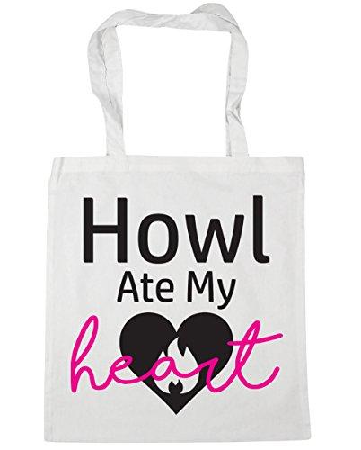 Gym 42cm x38cm Heart Shopping 10 Ate HippoWarehouse Howl litres White My Tote Beach Bag zgYYqw
