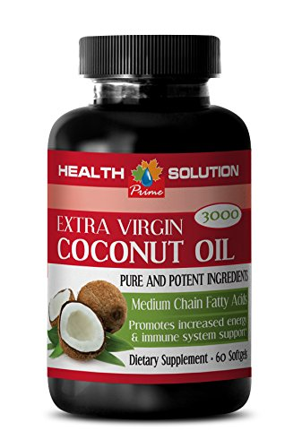 Memory booster supplement - EXTRA VIRGIN COCONUT OIL - Coconut oil pills for skin - 1 Bottle 60 Softgels