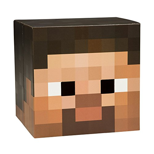 JINX Minecraft Steve Head V2 Premium Costume Mask (Minecraft Costume Head)